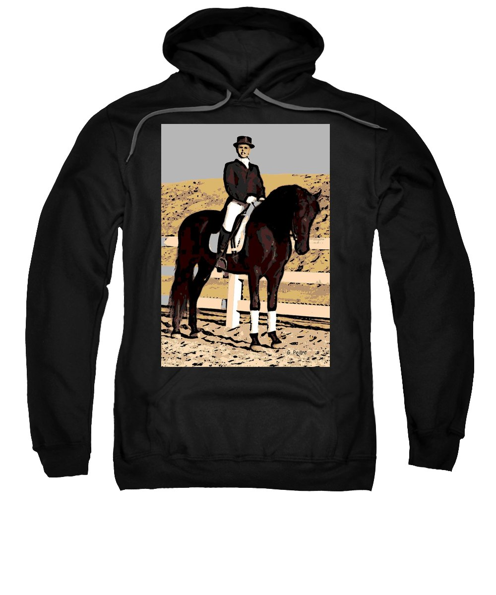 Rider Sweatshirt featuring the photograph Ready To Compete by George Pedro