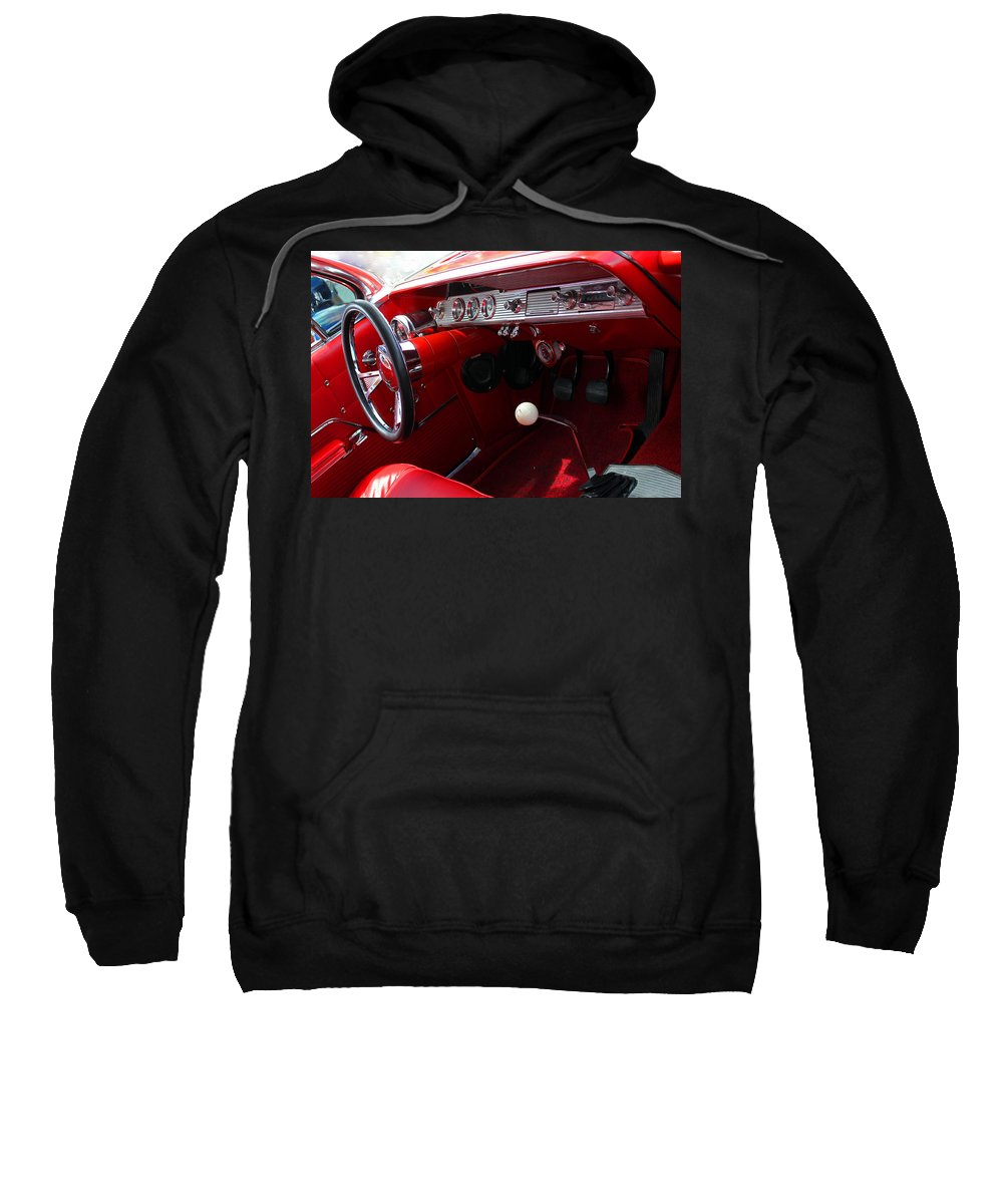 Classic Sweatshirt featuring the photograph Red Chevy Impala by Carolyn Stagger Cokley