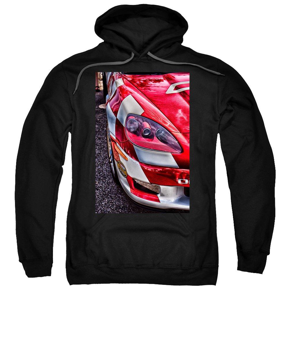 Corvette Sweatshirt featuring the photograph Red Corvette by Lauri Novak