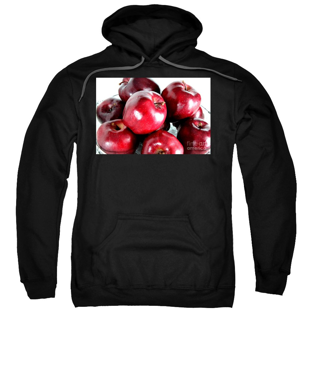 Red Sweatshirt featuring the photograph Red Delicious Apples by Barbara Griffin