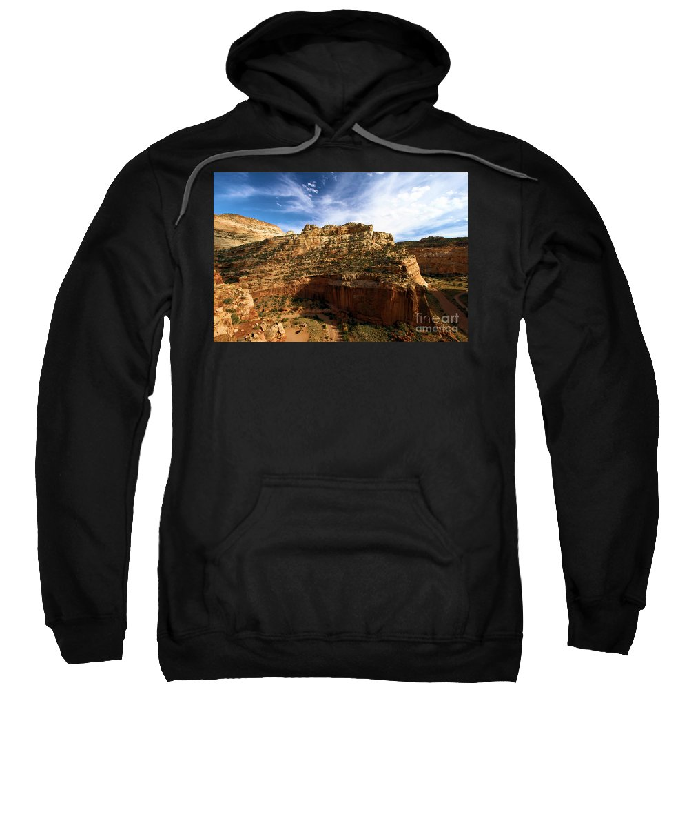 Capitol Reef National Park Sweatshirt featuring the photograph Red Rock Canyons by Adam Jewell