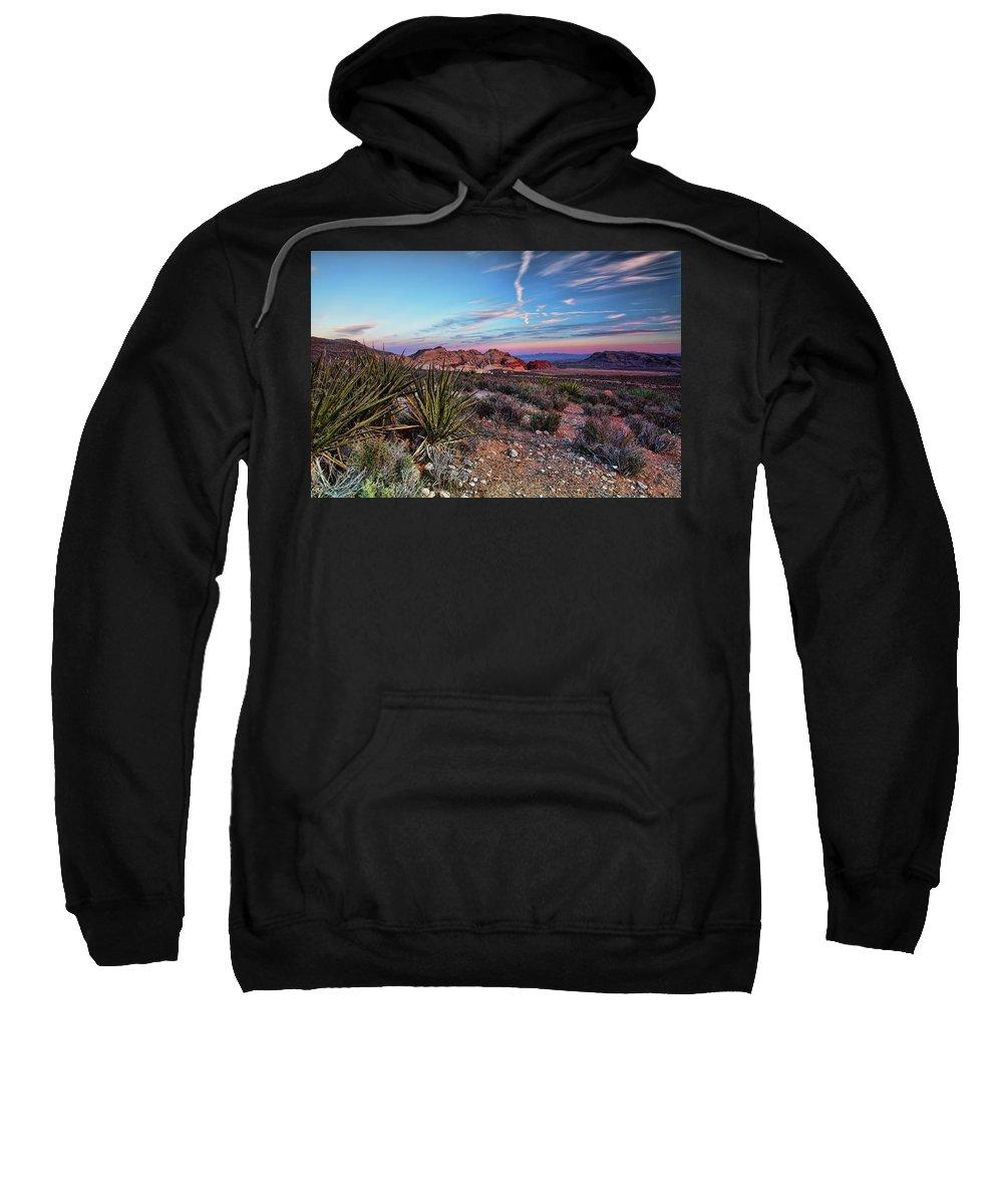 Nevada Sweatshirt featuring the photograph Red Rock Sunset by Rick Berk
