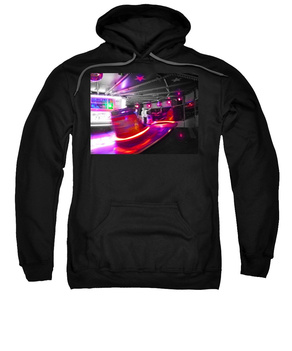 Waltzer In A Fairground Sweatshirt featuring the photograph Red Waltz by Charles Stuart