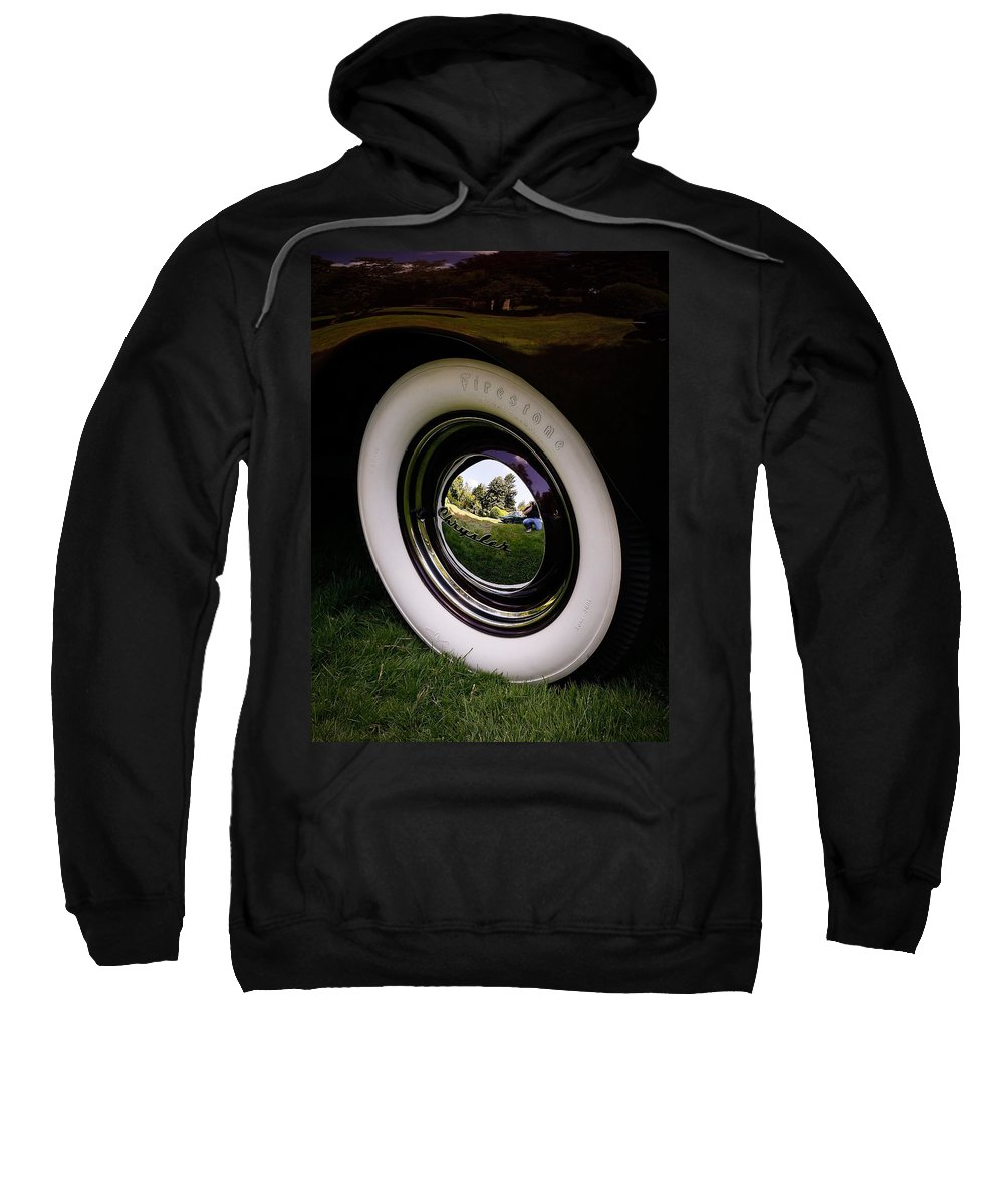 Chrysler Sweatshirt featuring the photograph Reflections In A Hubcap by Steve McKinzie