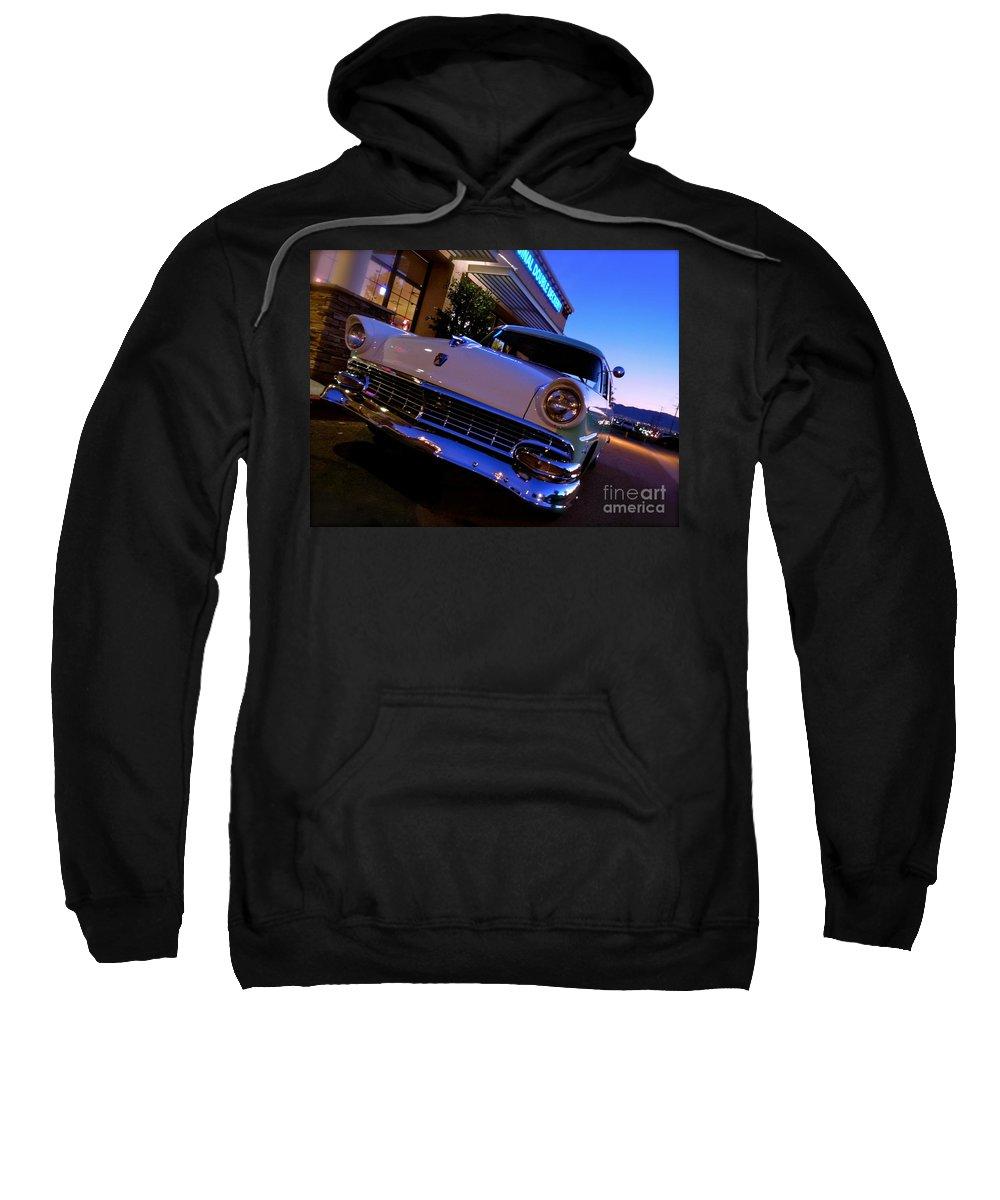 Bob's Big Boy Sweatshirt featuring the photograph Retro Ford At Bob's by Customikes Fun Photography and Film Aka K Mikael Wallin