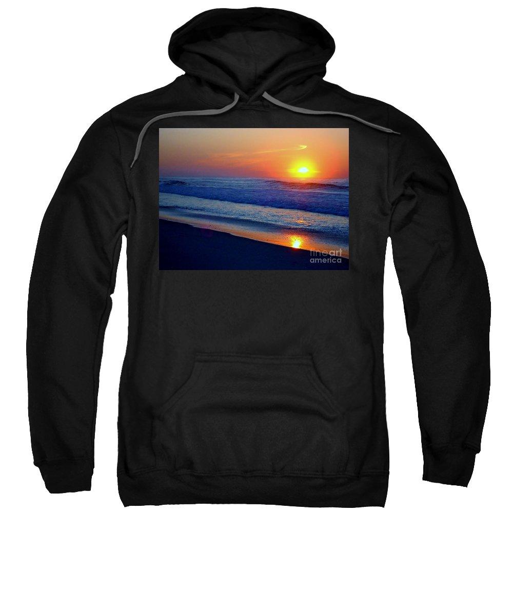 Sunrise Sweatshirt featuring the photograph Right Hand Sun by Art Dingo