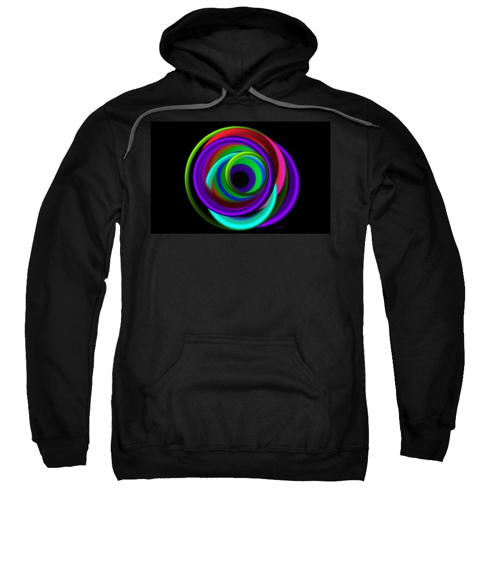 Rings Sweatshirt featuring the painting Ring Deep by Charles Stuart