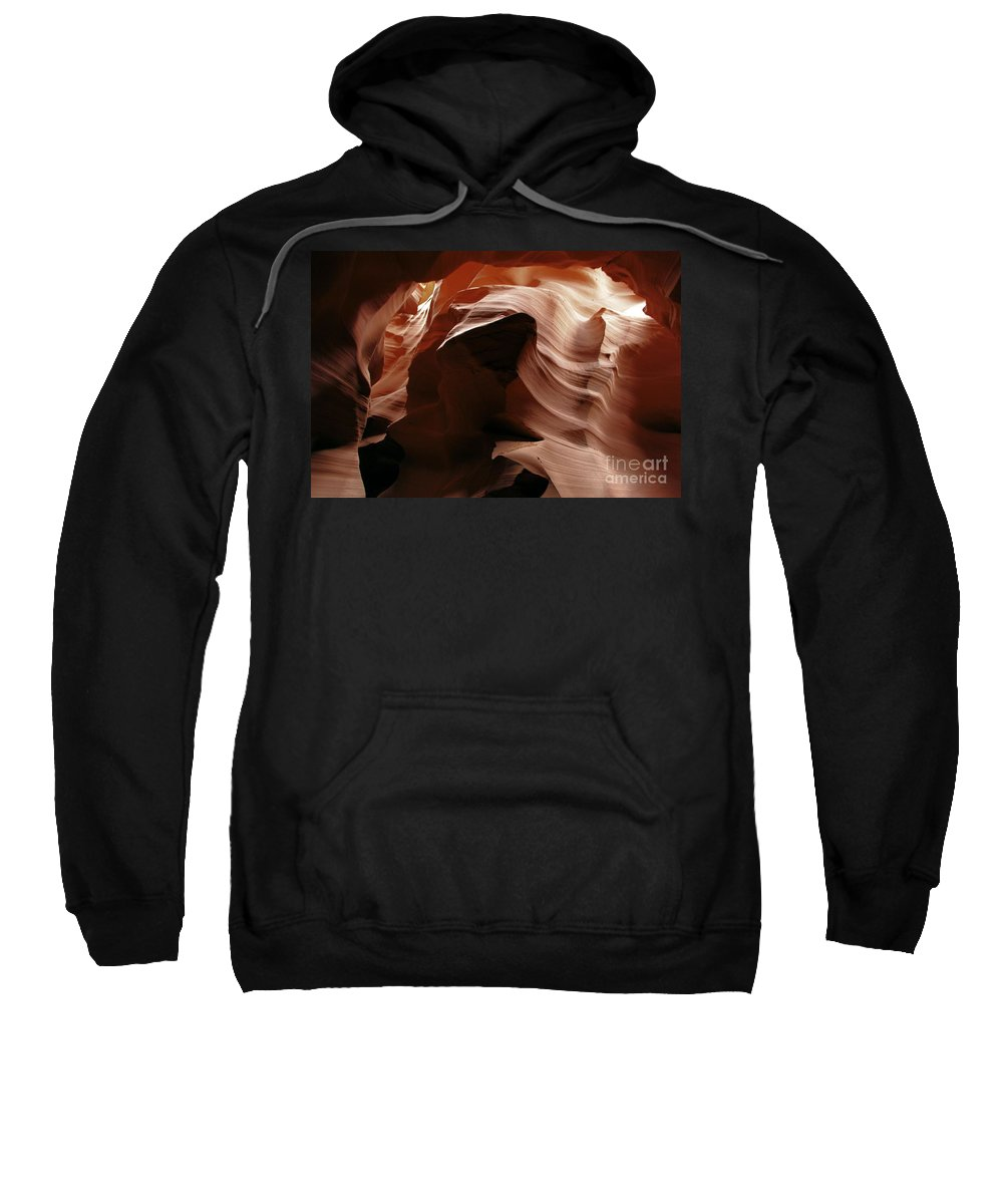 Antelope Canyon Sweatshirt featuring the photograph Ripples In The Stone by Adam Jewell