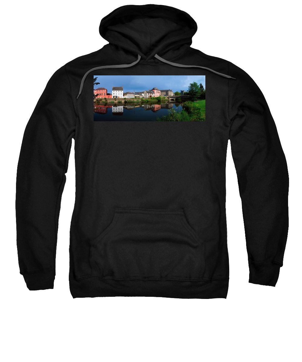 Building Sweatshirt featuring the photograph River Nore, Kilkenny, County Kilkenny by The Irish Image Collection