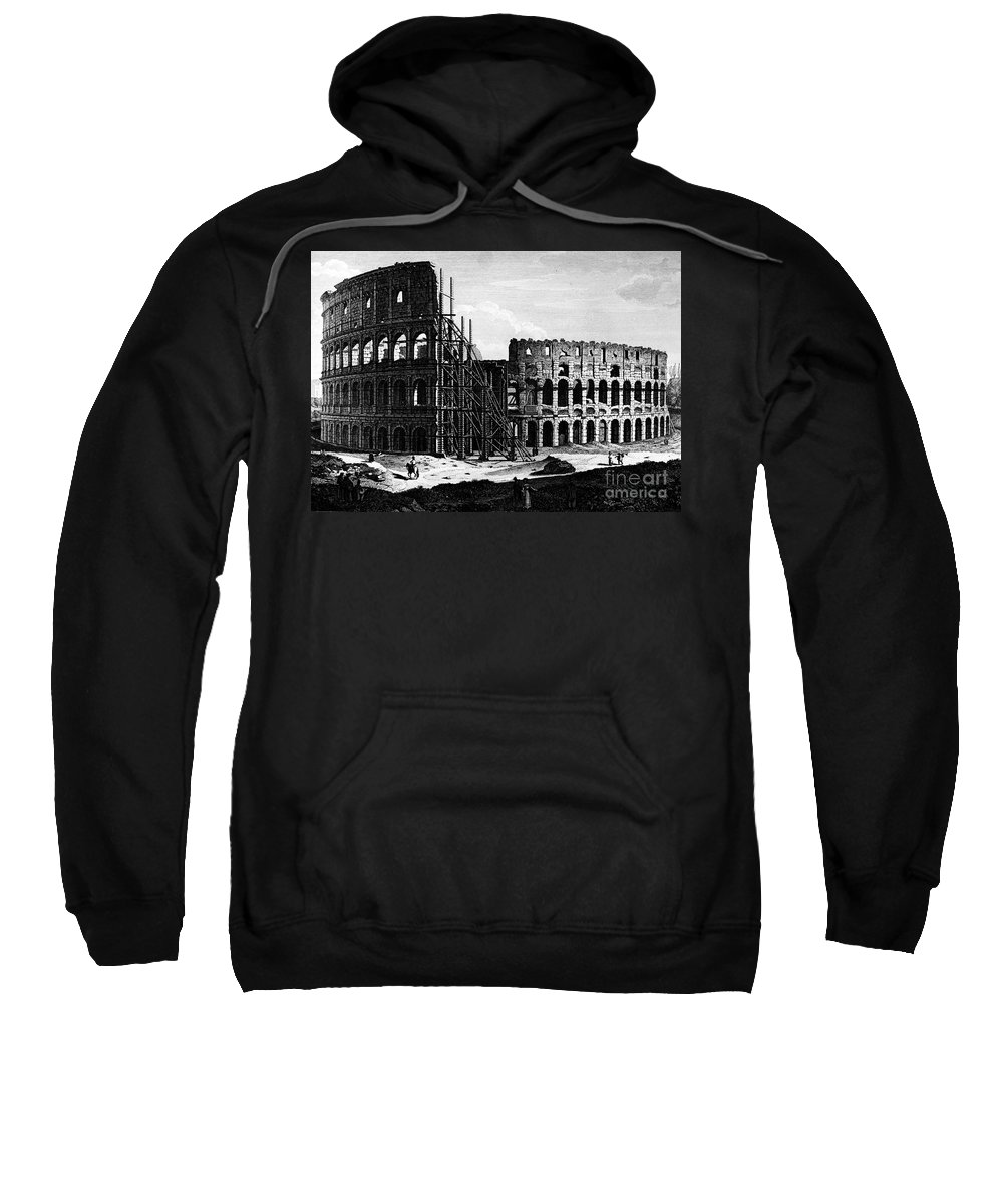 1864 Sweatshirt featuring the photograph Rome: Colosseum, C1864 by Granger