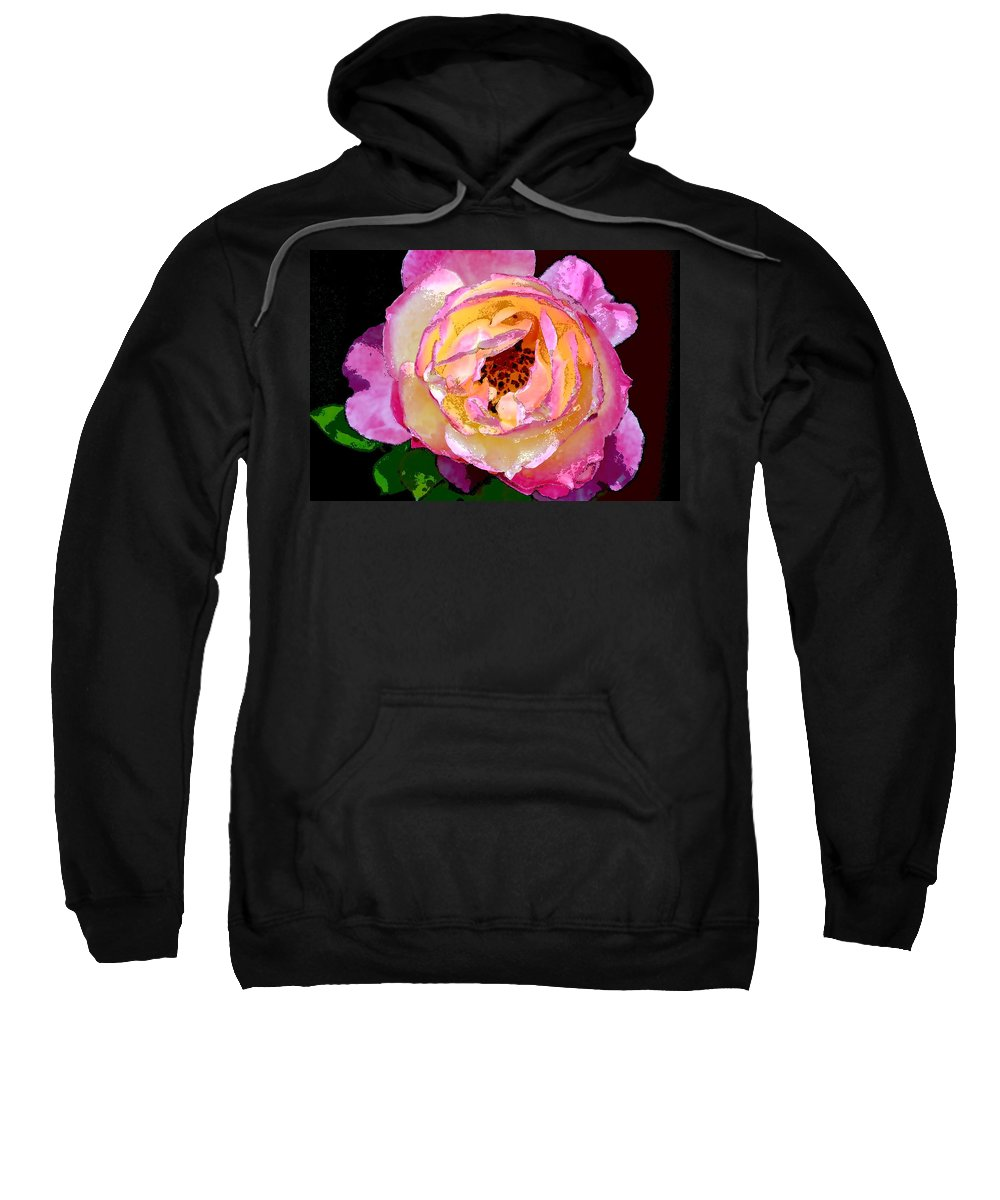 Floral Sweatshirt featuring the photograph Rose 136 by Pamela Cooper