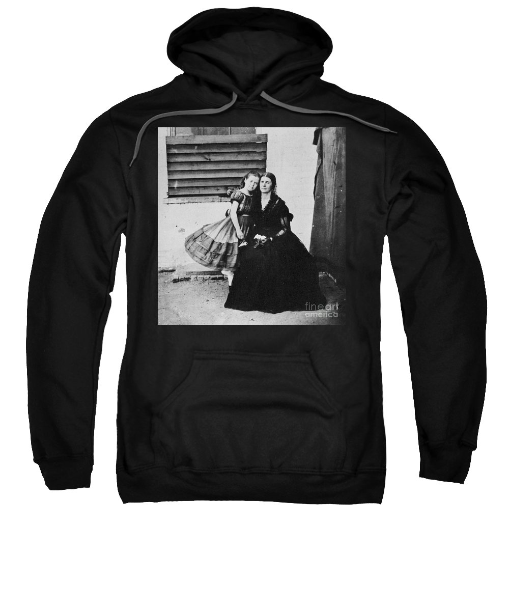 1864 Sweatshirt featuring the photograph Rose Oneal Greenhow by Granger