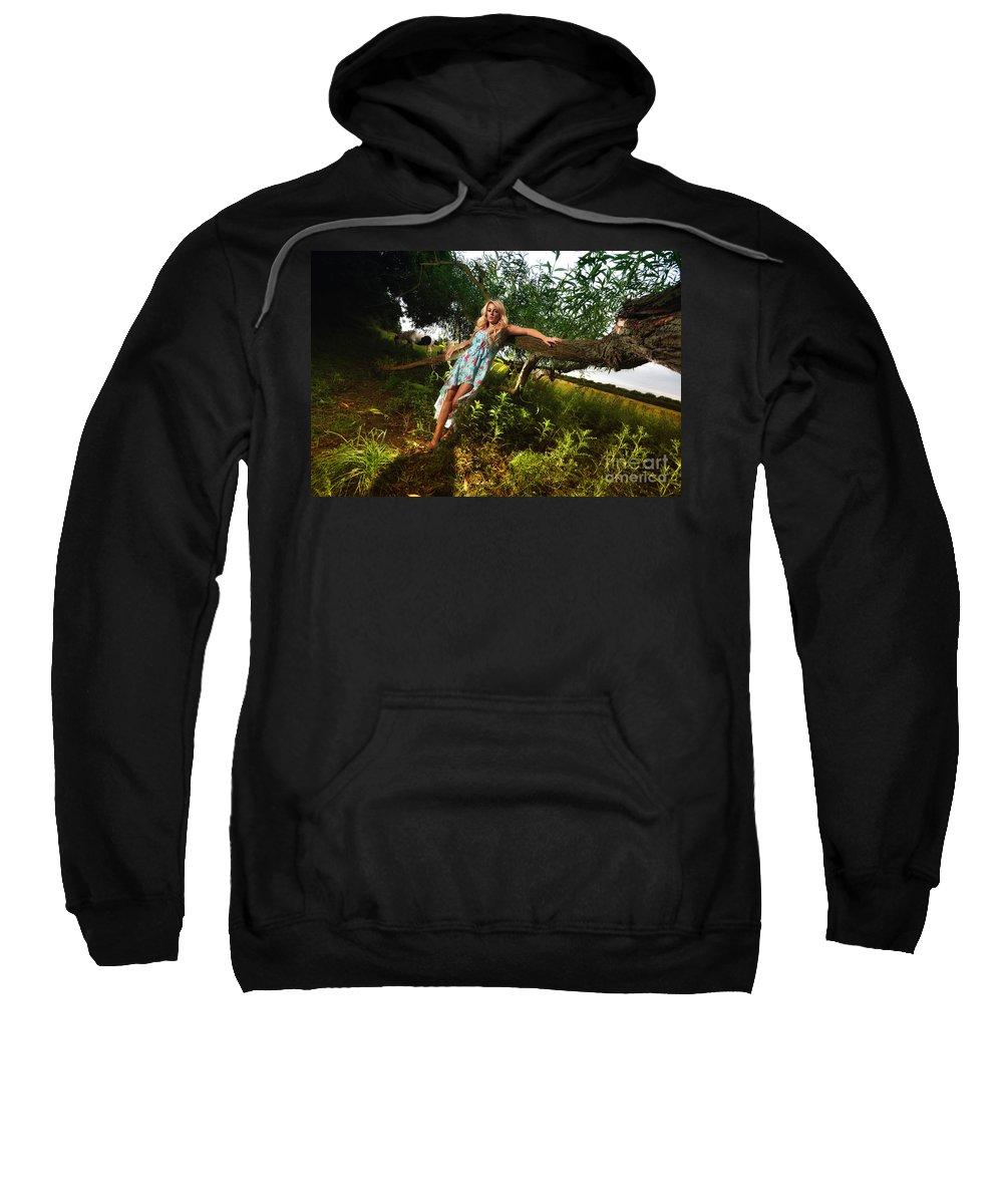 Yhun Suarez Sweatshirt featuring the photograph Rosey4 by Yhun Suarez