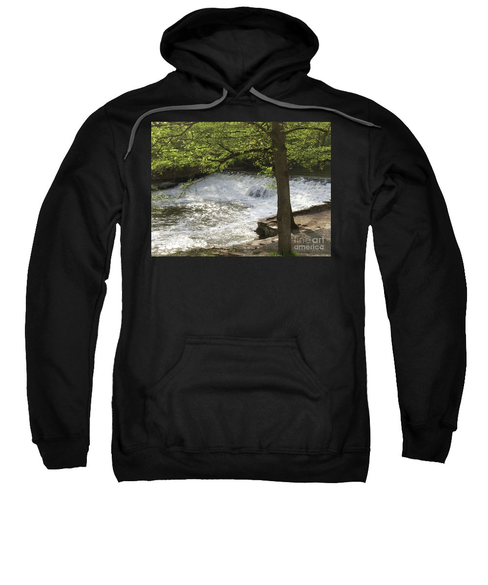 River Sweatshirt featuring the photograph Rouge River At Fair Lane by Ann Horn