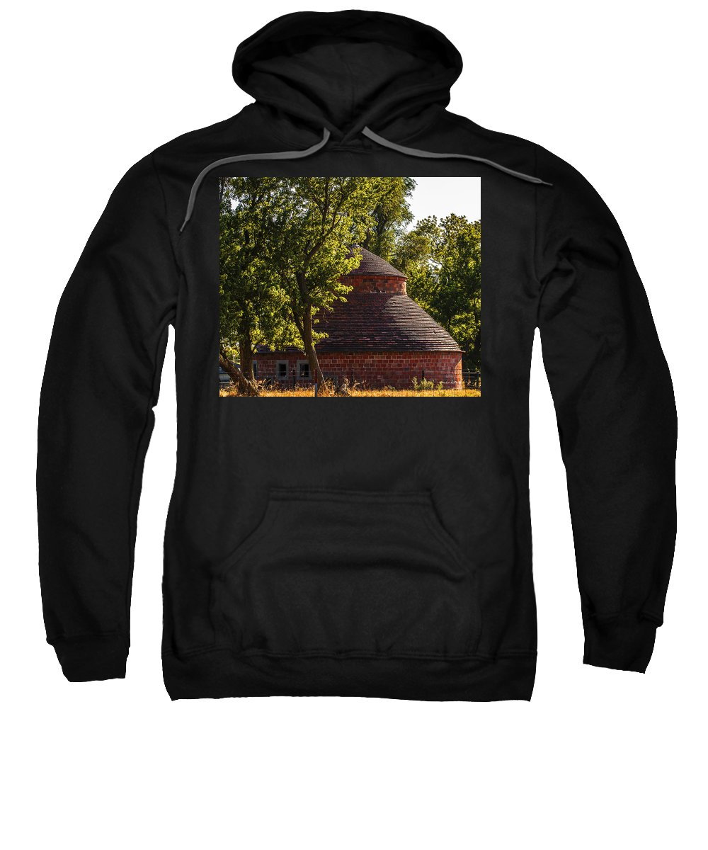 Barns Sweatshirt featuring the photograph Round Block Barn by Edward Peterson