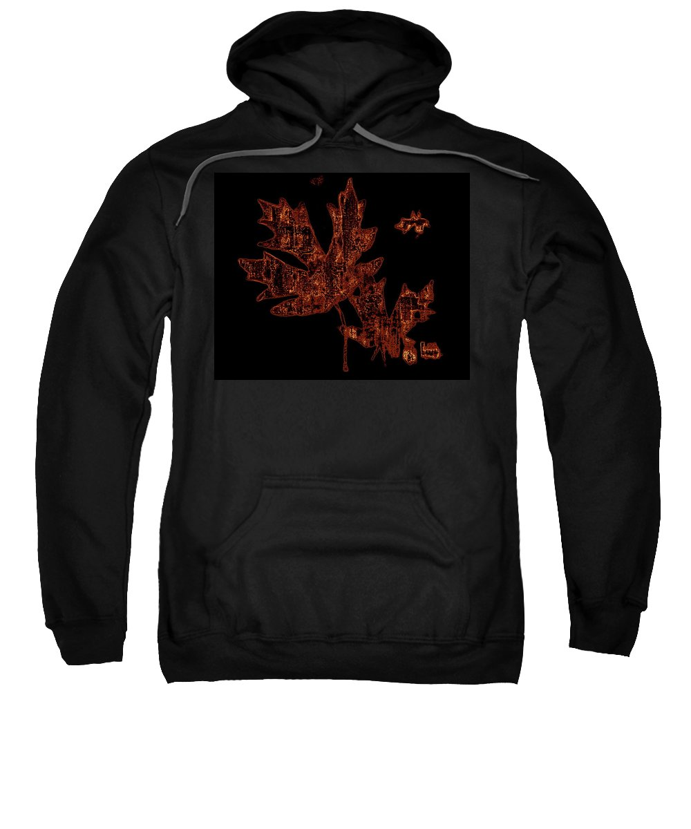 Leaves Sweatshirt featuring the photograph Rustic Leaves by Kathy Sampson