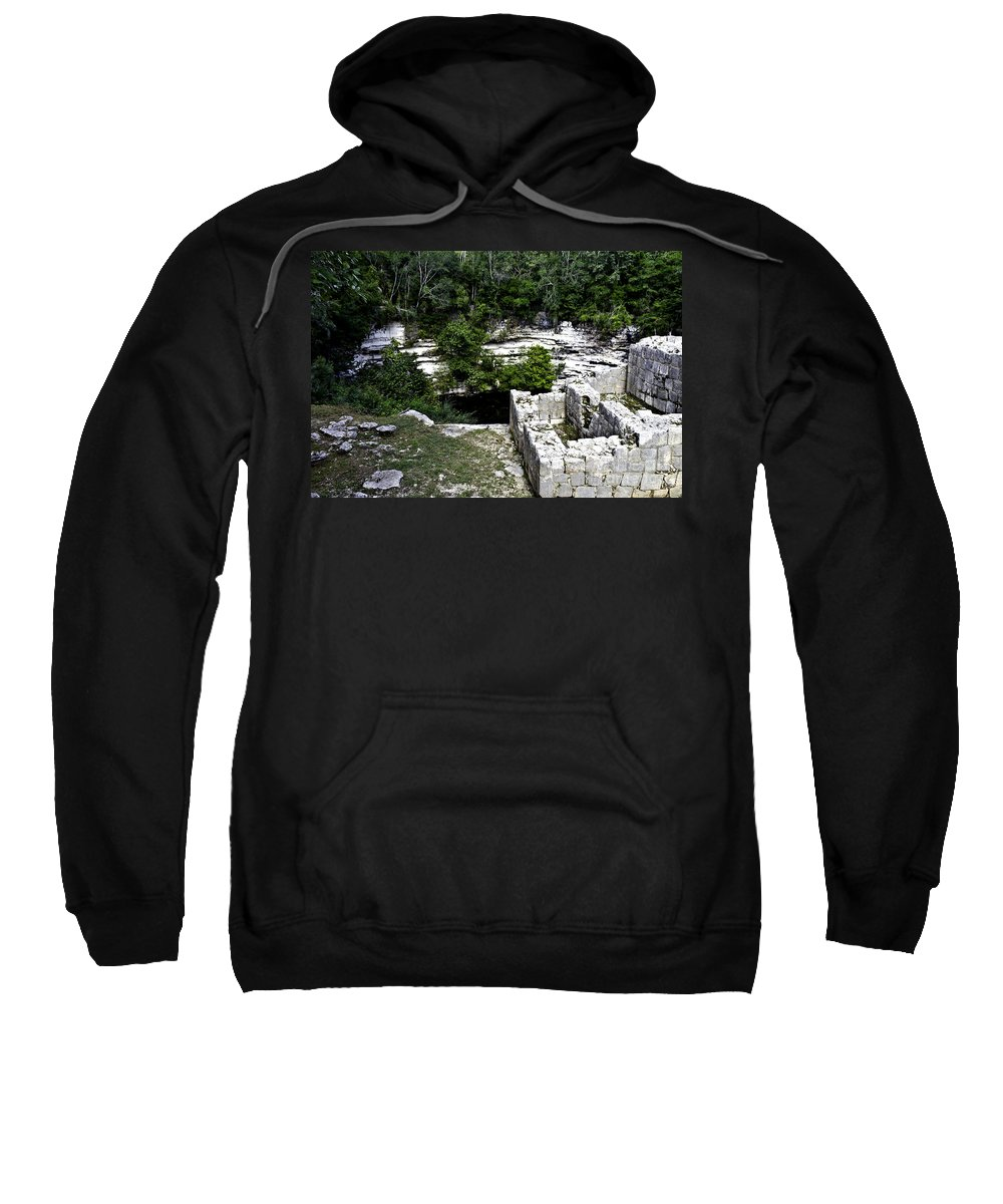 Chichen Itza Sweatshirt featuring the photograph Sacred Cenote by Ken Frischkorn