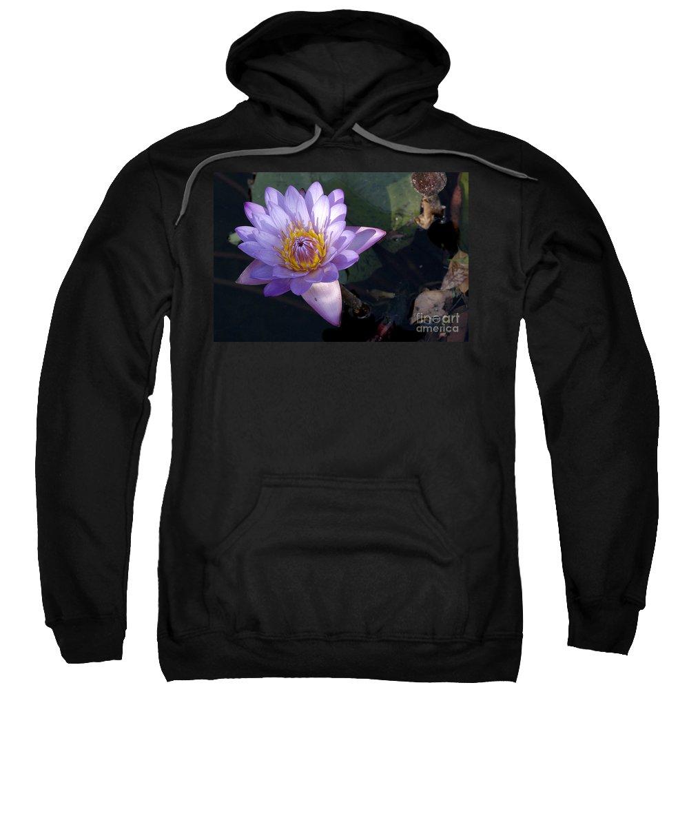 Lotus Sweatshirt featuring the photograph Sacred Lotus by Raul Gonzalez Perez