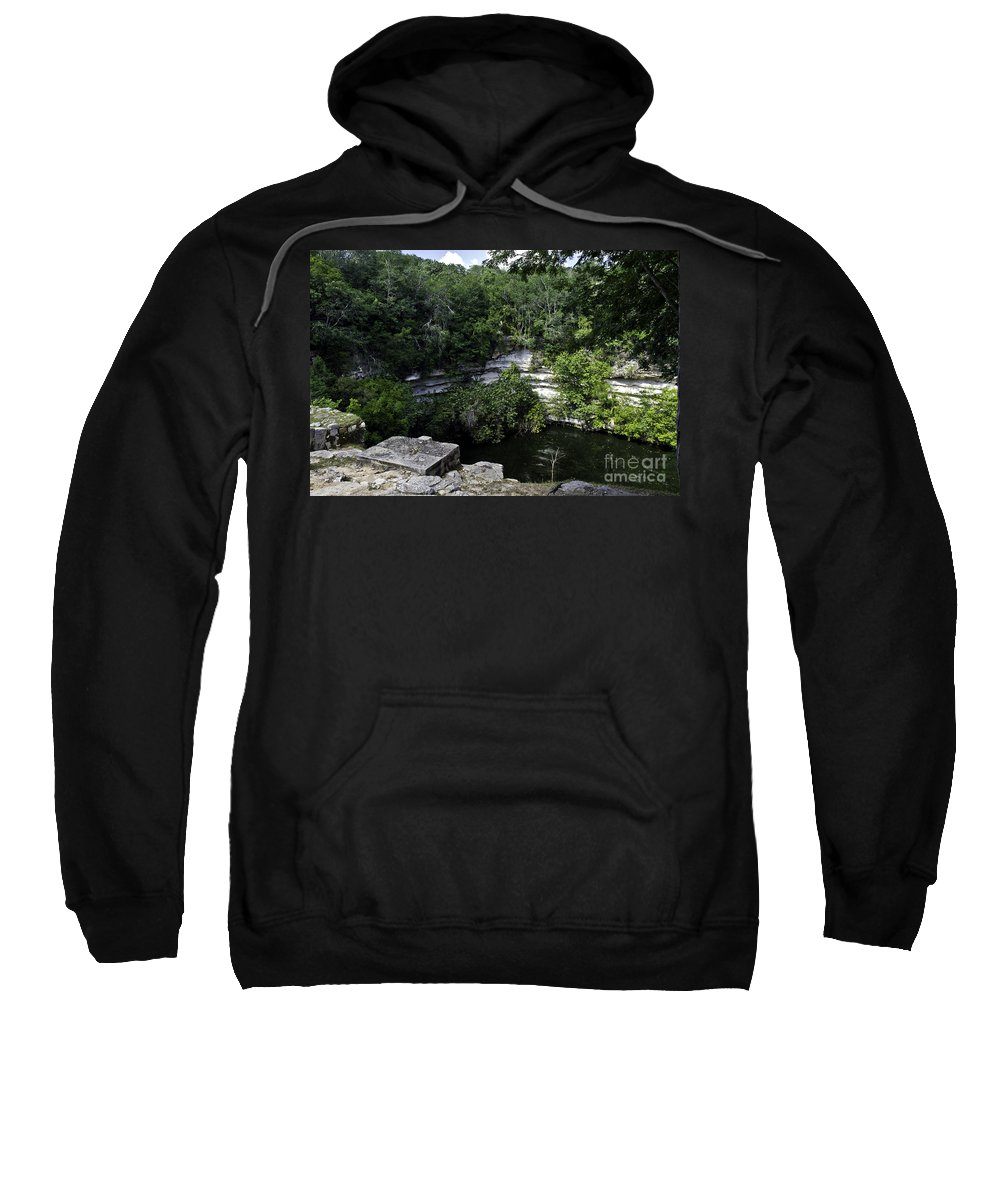 Chichen Itza Sweatshirt featuring the photograph Sacred Well by Ken Frischkorn