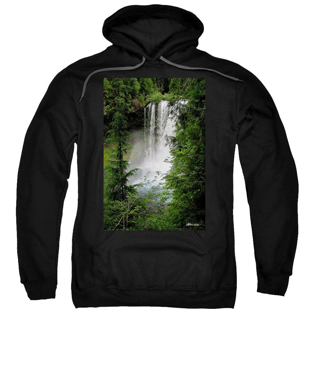Landscape Sweatshirt featuring the photograph Sahalie Falls by Stephanie Salter