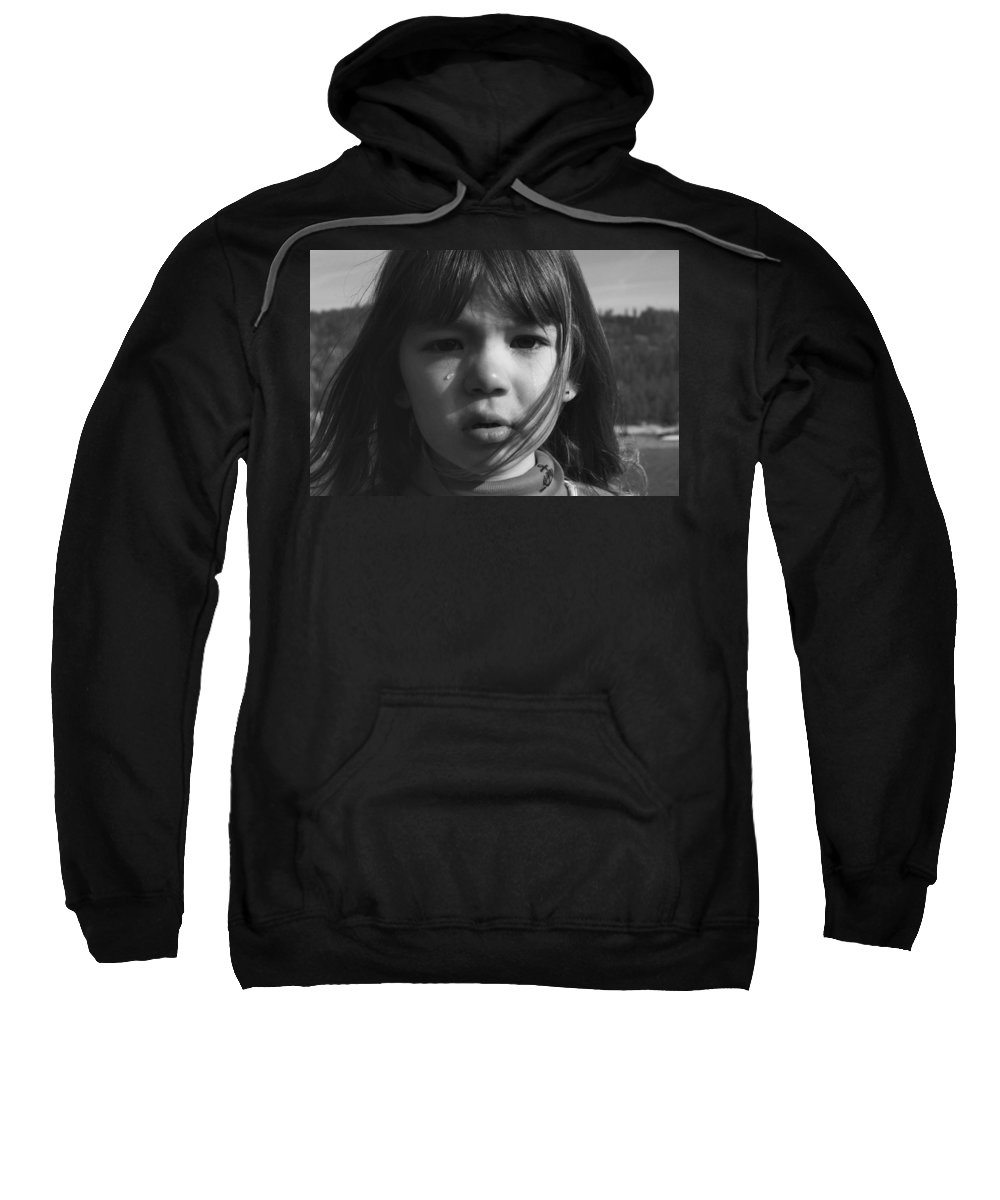 People Sweatshirt featuring the photograph Samantha by Sally Bauer