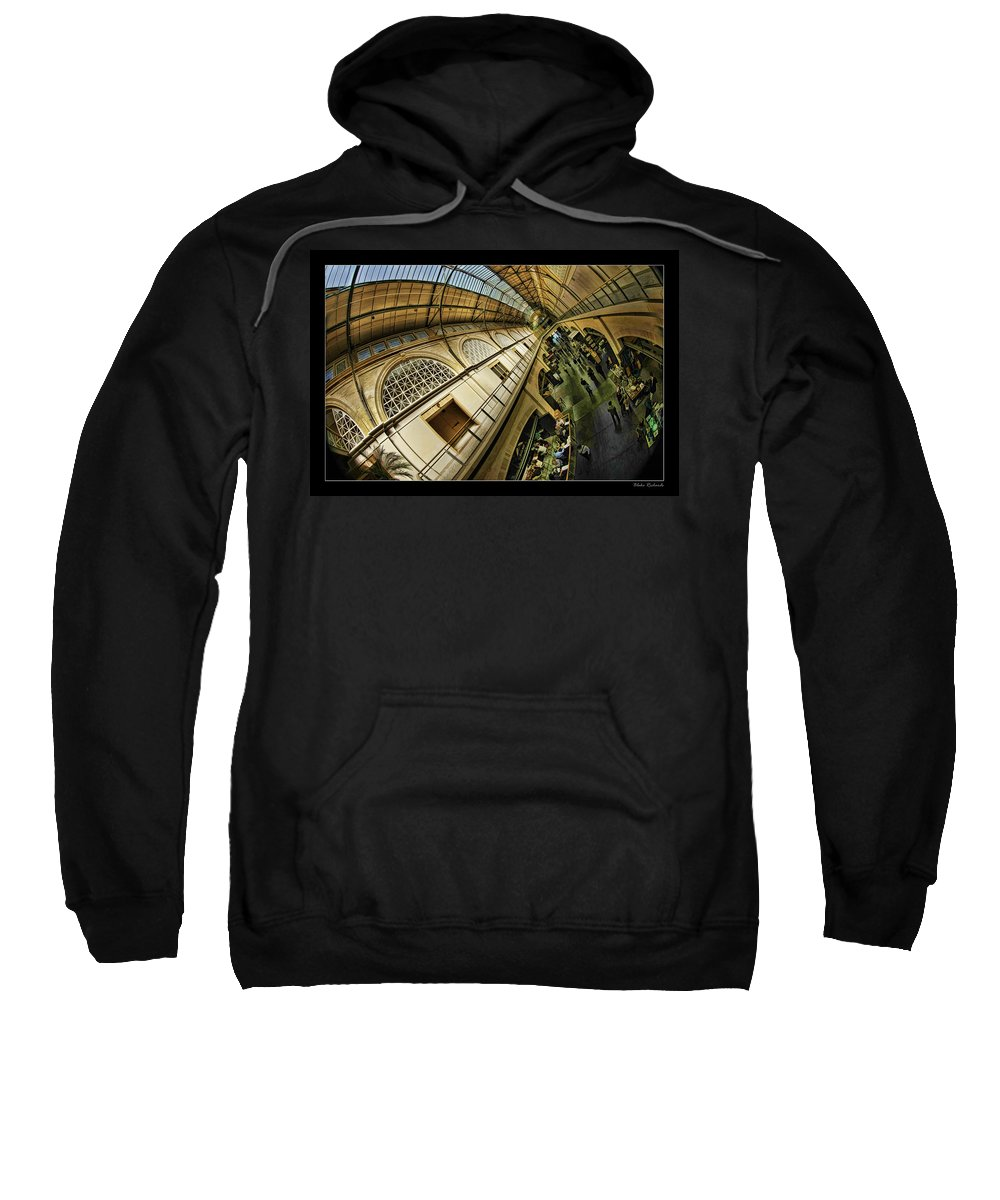 San Francisco Sweatshirt featuring the photograph San Francisco Ferry Building Interior by Blake Richards