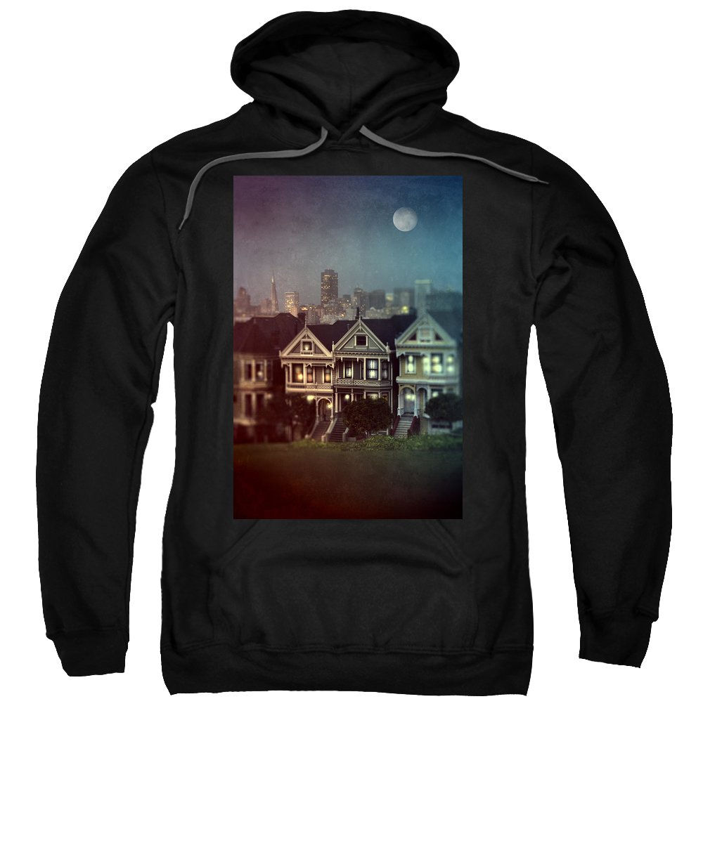 San Francisco Sweatshirt featuring the photograph San Francisco Night by Jill Battaglia