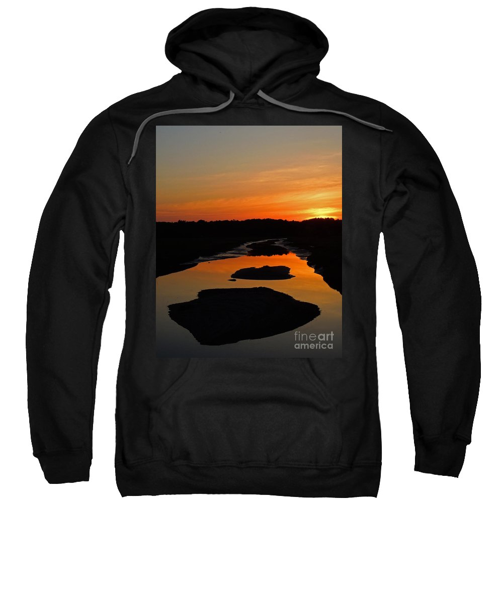 Scarborough Sweatshirt featuring the photograph Scarborough Marsh Sunset 1 by Lloyd Alexander