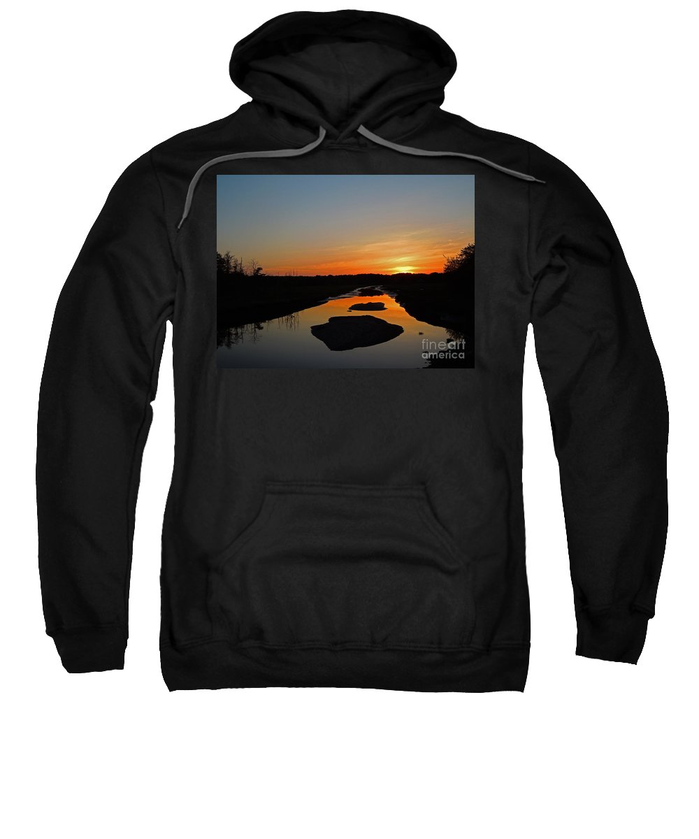 Scarborough Sweatshirt featuring the photograph Scarborough Marsh Sunset 2 by Lloyd Alexander