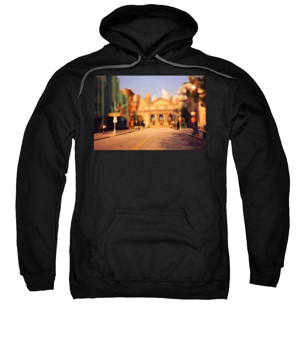 Photo Sweatshirt featuring the photograph Seaport Tiltshift by Ericamaxine Price