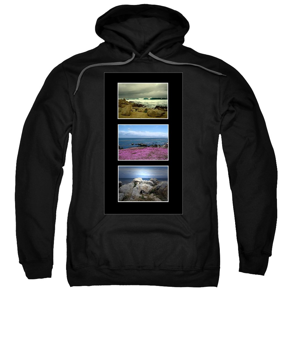 Ocean Sweatshirt featuring the photograph Seascape Triptych by Joyce Dickens