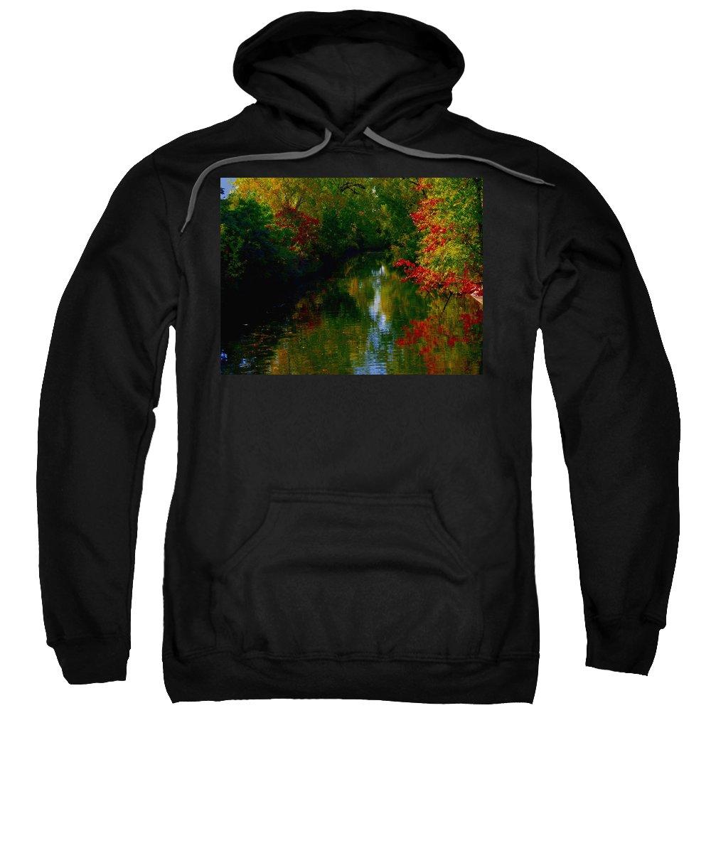 St Henri Sweatshirt featuring the mixed media Secret Horse Creek by Contemporary Luxury Fine Art