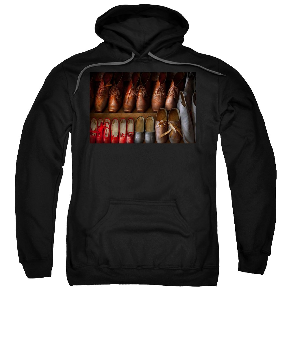 Hdr Sweatshirt featuring the photograph Shoemaker - Shoes Worn In Life by Mike Savad