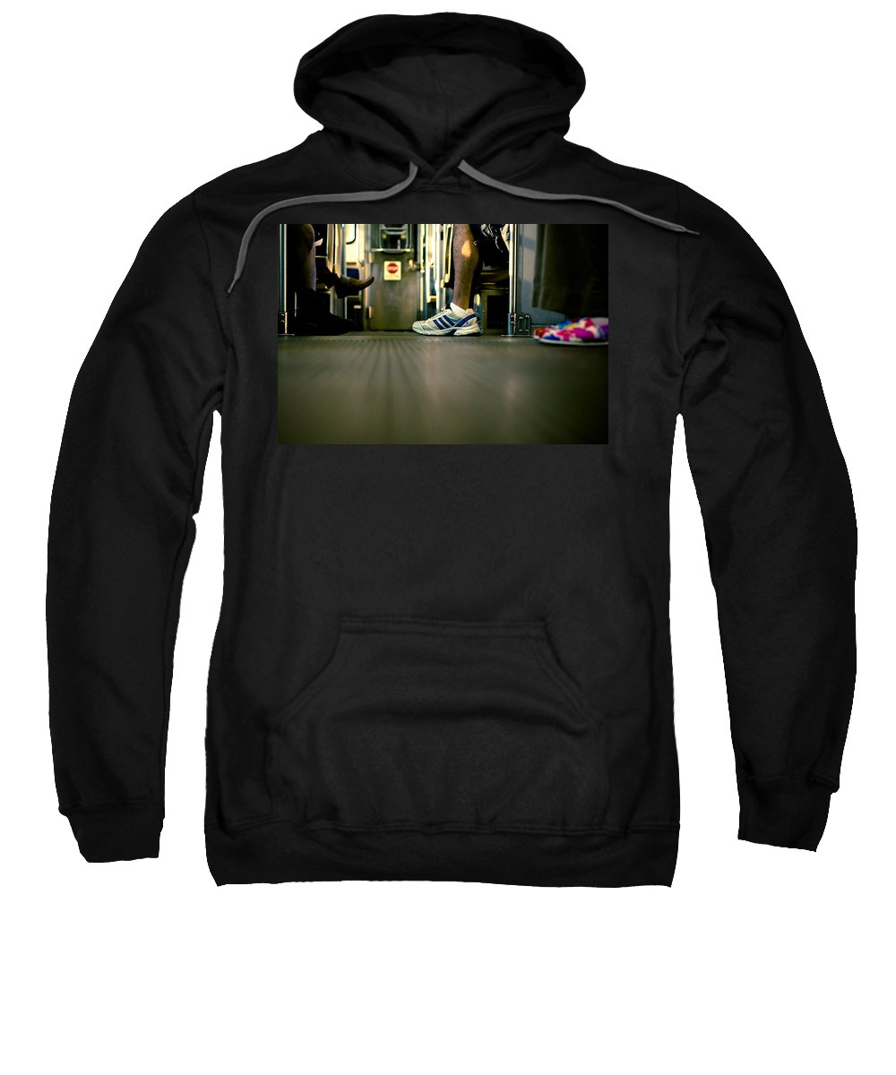 Chicago Sweatshirt featuring the photograph Shoes On The L by Anthony Doudt