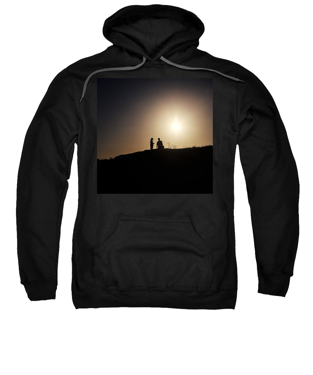 Two Sweatshirt featuring the photograph Silhouettes by Joana Kruse