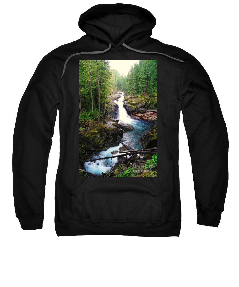 Water Sweatshirt featuring the photograph Silver Falls Full View by Jeff Swan