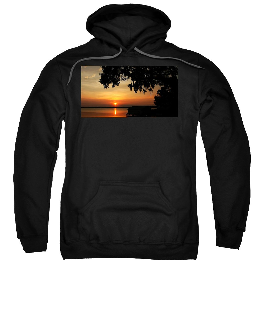 Mount Dora Sweatshirt featuring the photograph Simmer Down by Phil Cappiali Jr