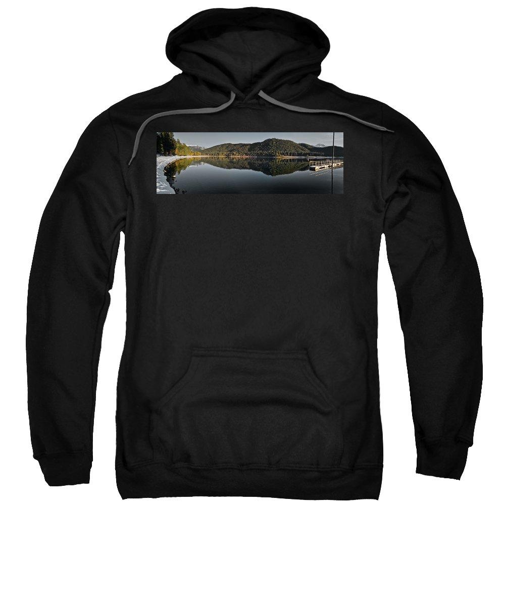 Klamath Mountains Sweatshirt featuring the photograph Siskiyou Lake Panorama by Greg Nyquist