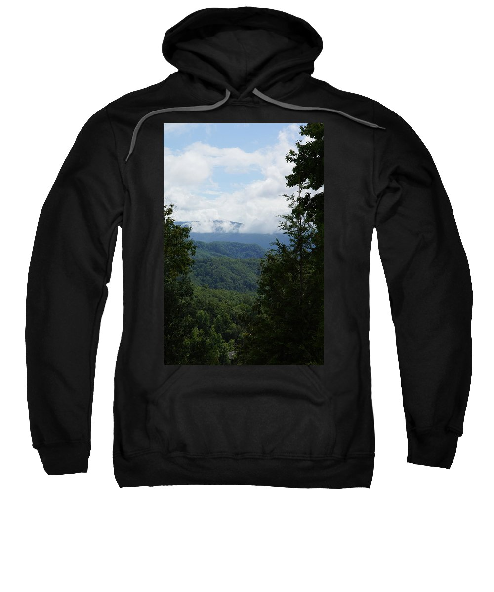 Mountains Sweatshirt featuring the photograph Smoky Mountain View by Megan Cohen