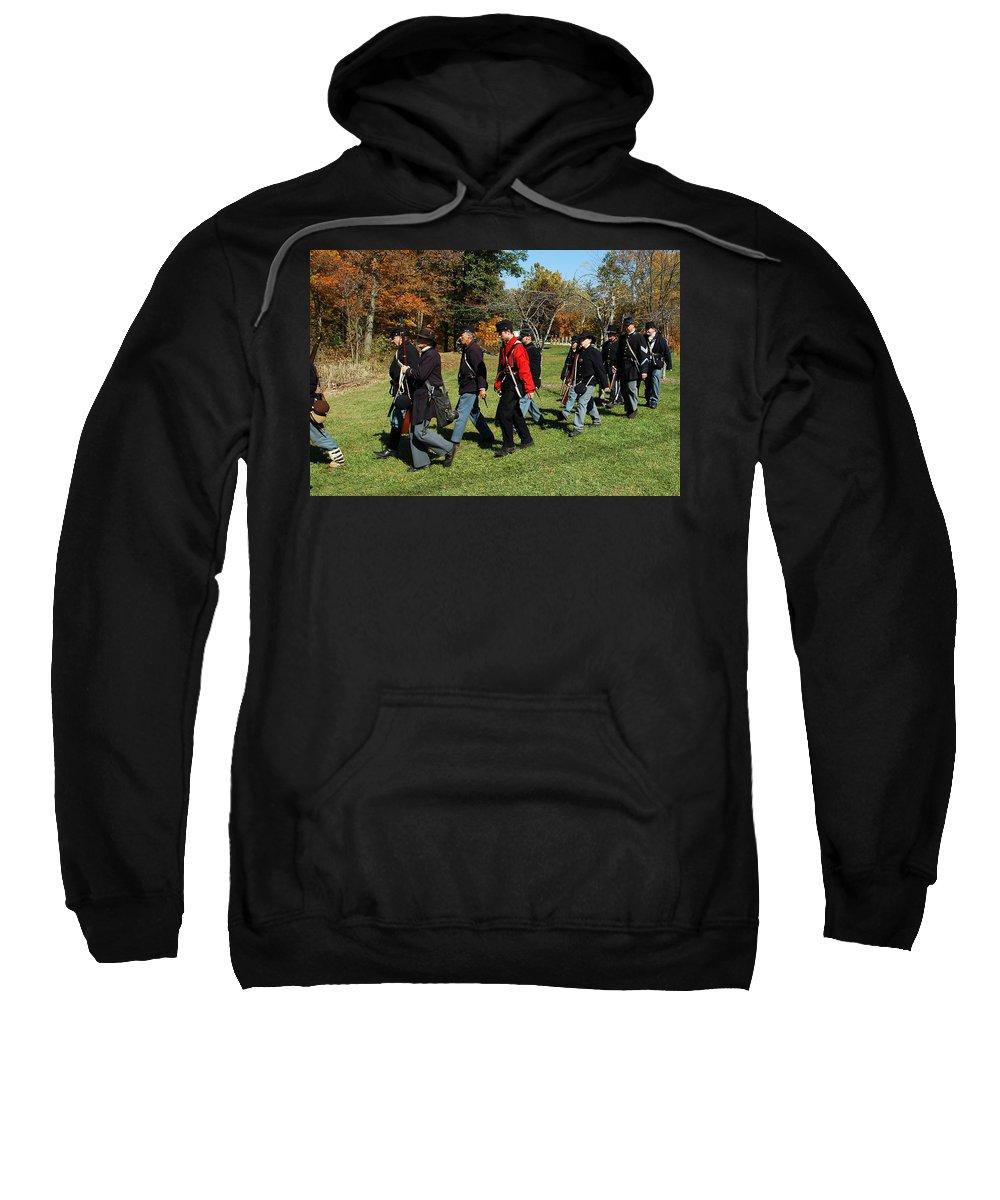 Usa Sweatshirt featuring the photograph Soldiers March Color by LeeAnn McLaneGoetz McLaneGoetzStudioLLCcom