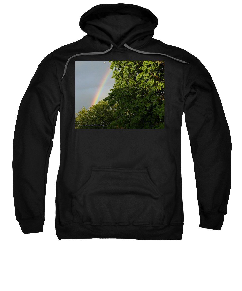 Rainbow Photograph Sweatshirt featuring the photograph Somewhere Over The Rainbow by Lingfai Leung