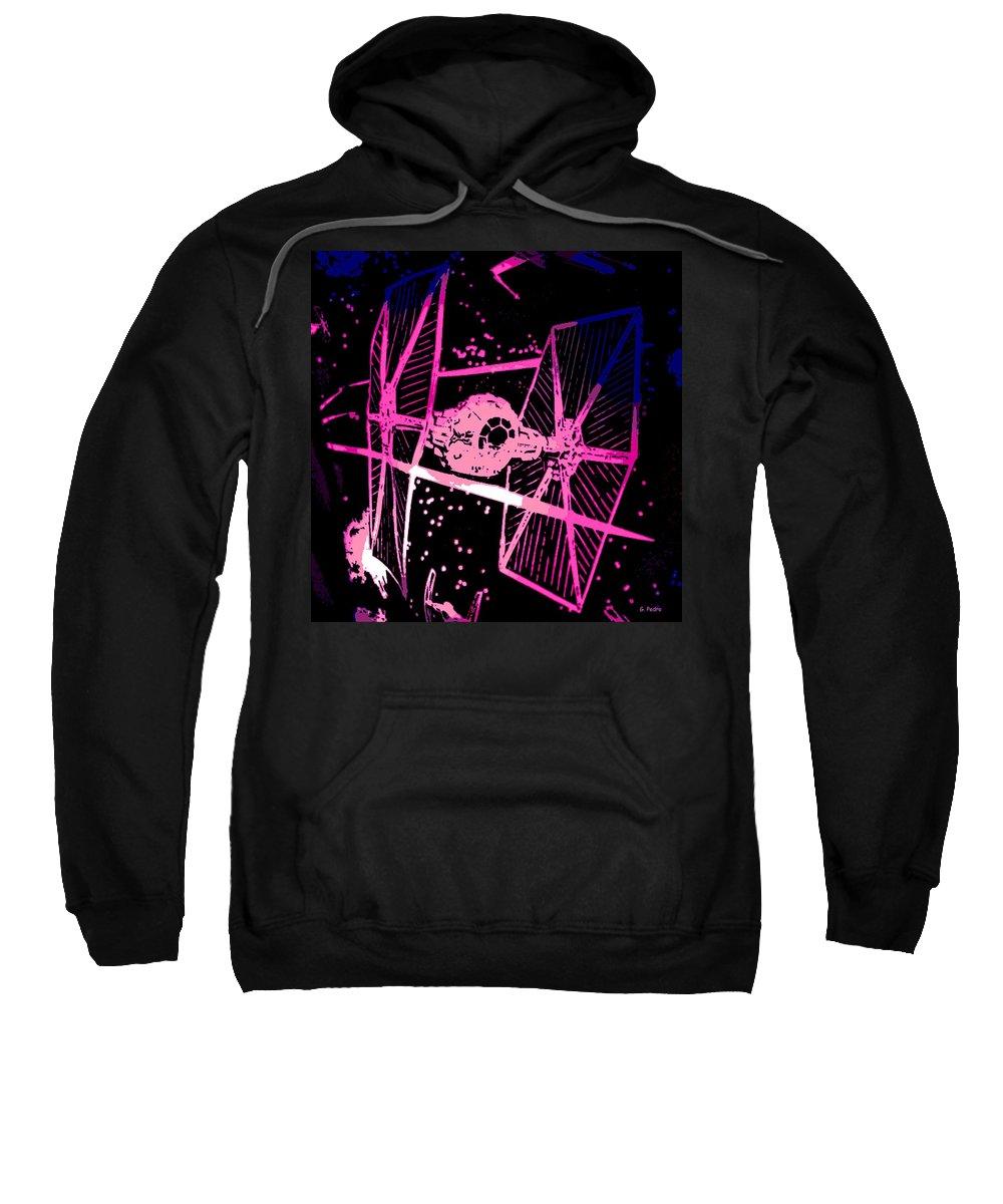 Space Battle Sweatshirt featuring the digital art Space Battle by George Pedro