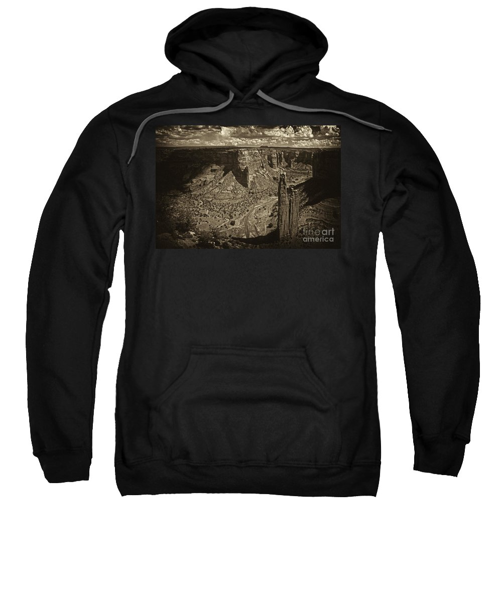 Spider Rock Sweatshirt featuring the photograph Spider Rock - Toned by Paul W Faust - Impressions of Light