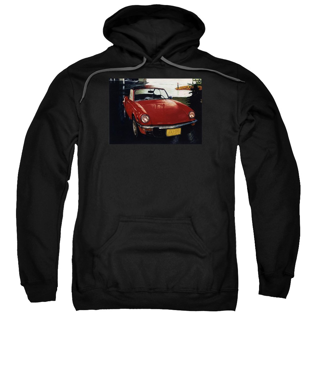 Triumph Sweatshirt featuring the painting Spitfire By Night by David Kleinsasser