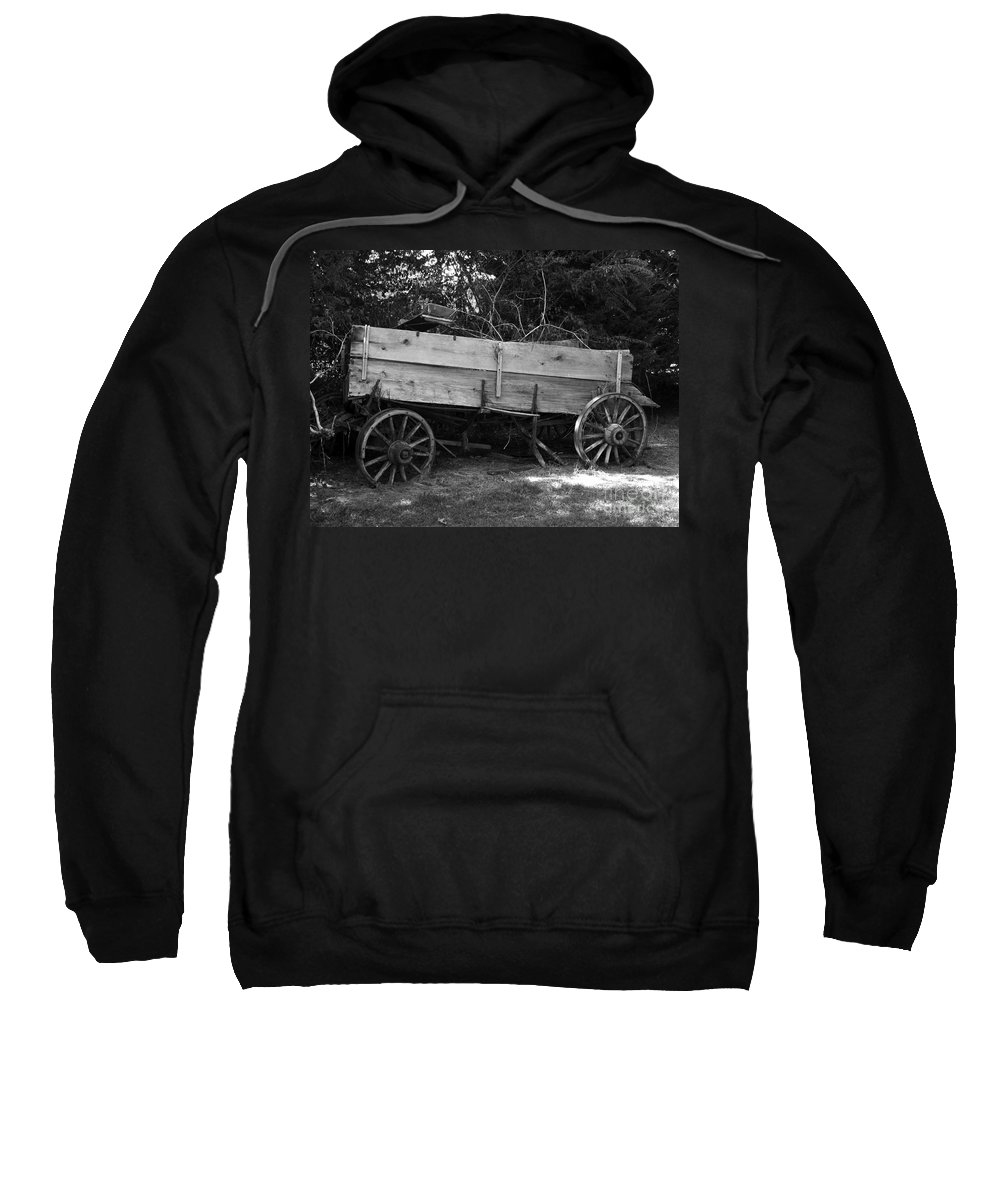 Wagon Sweatshirt featuring the photograph Splintered Wheels by Charleen Treasures