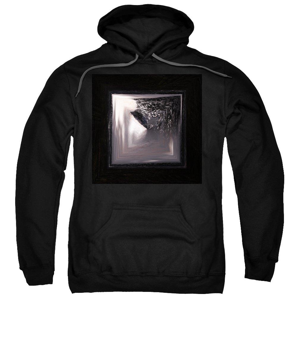 Liesijoki Sweatshirt featuring the photograph Spring Flood Squared by Jouko Lehto