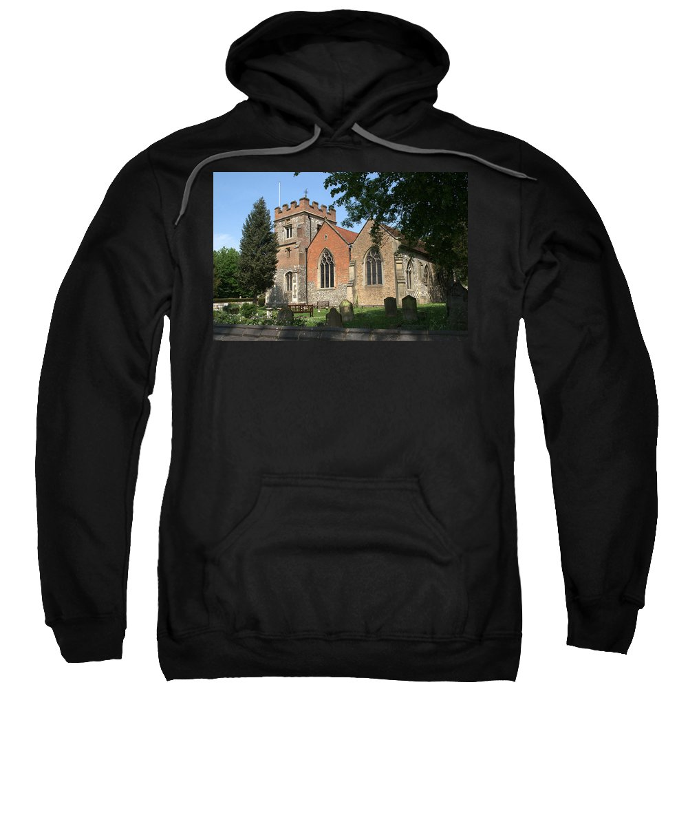 Sweatshirt featuring the photograph St Marys Harefield by Chris Day