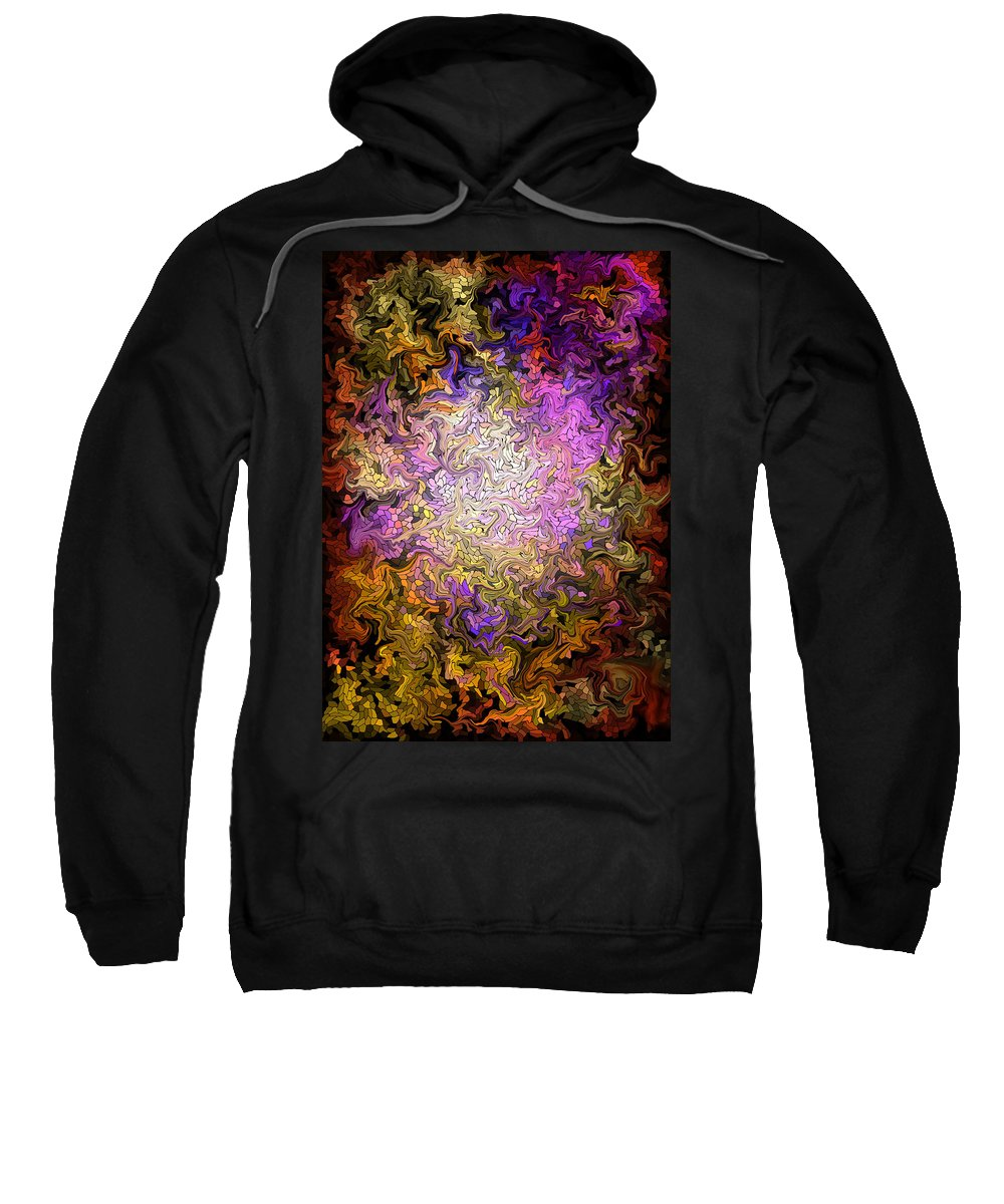 Digital Sweatshirt featuring the painting Stained Glass Mosaic by Hakon Soreide