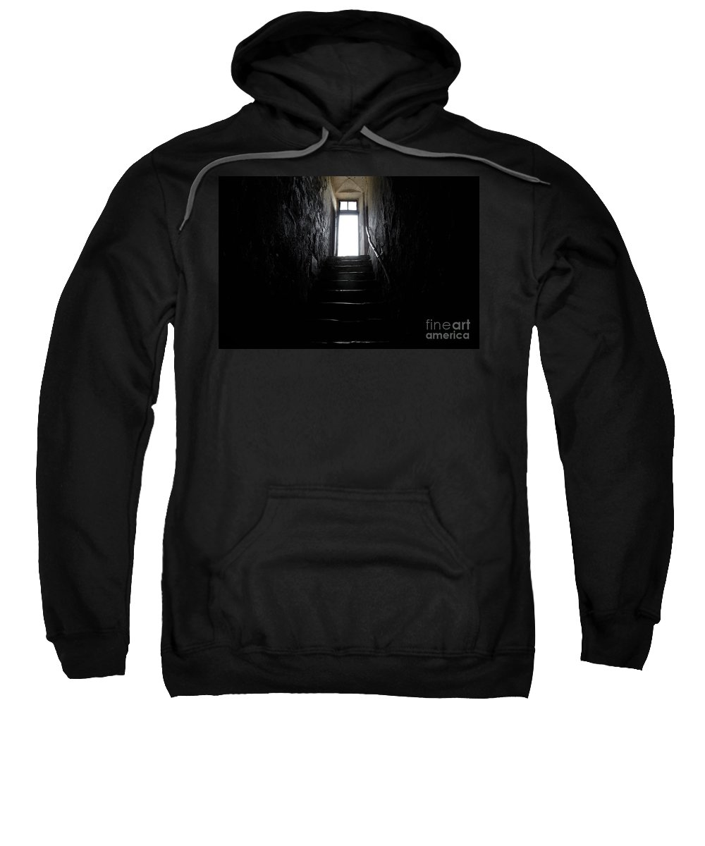 Stairs Sweatshirt featuring the photograph Stairs To The Light by Mats Silvan