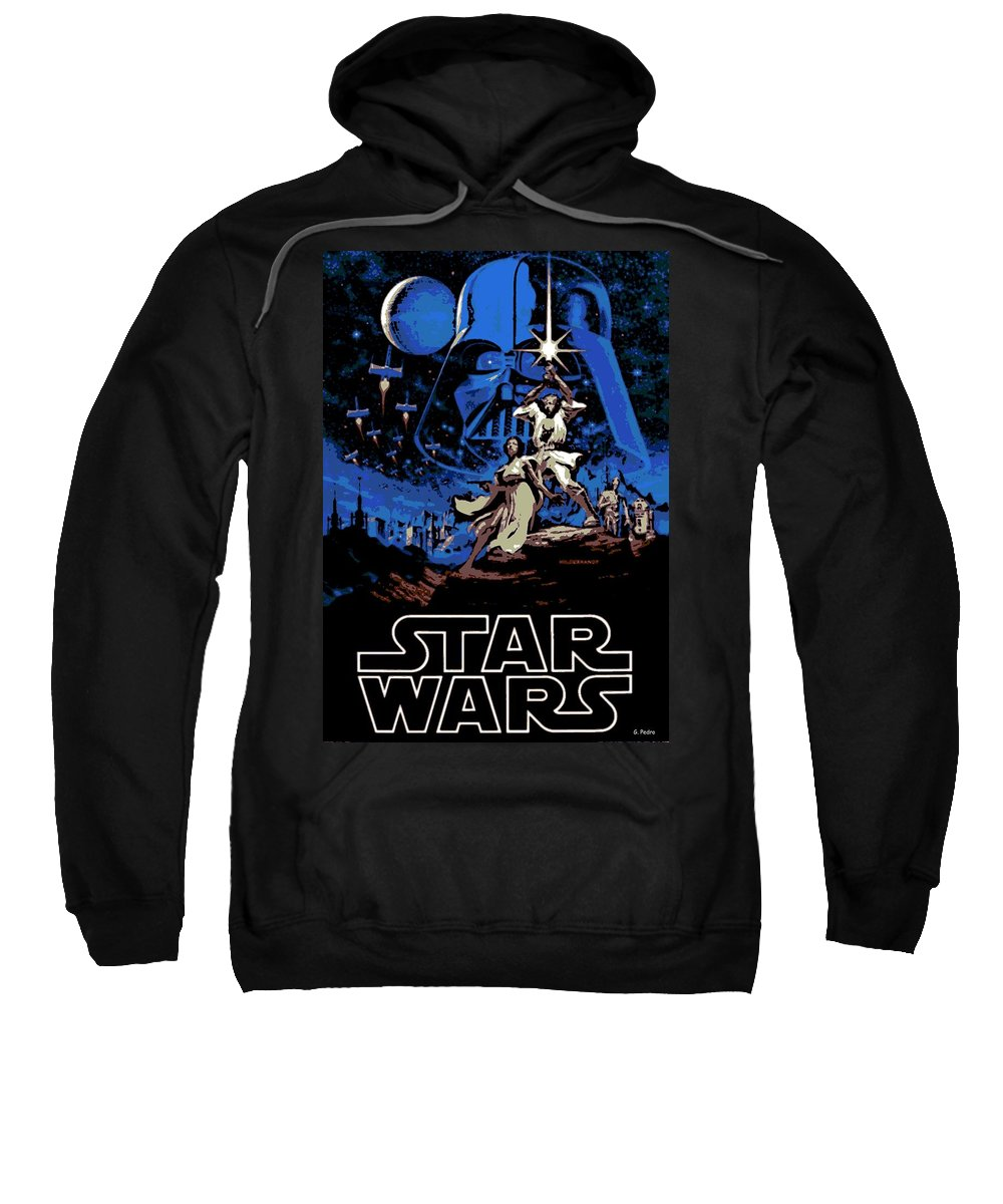 Star Wars Poster Sweatshirt featuring the photograph Star Wars Poster by George Pedro